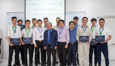 GRADUATION CEREMONY FOR BAMBOO AIRWAYS: BASIC SKILLS TRAINING FOR A/C MAINTENANCE TECHNICIAN