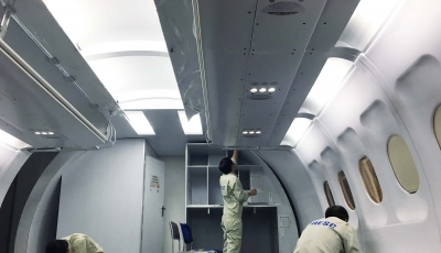 AESC completes the A320 Cabin Mock up for VIAGS